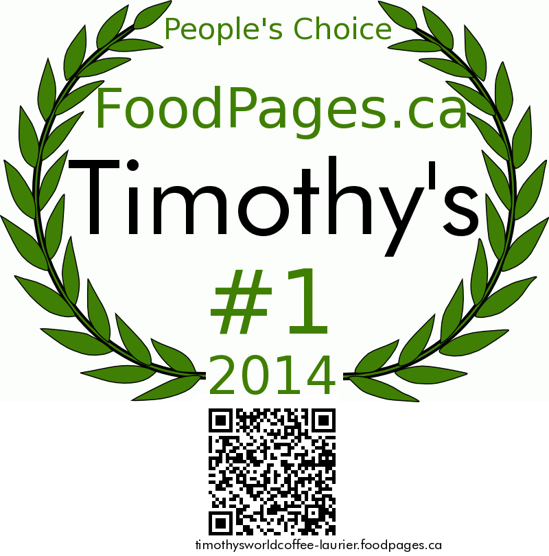 Timothy's FoodPages.ca 2014 Award Winner